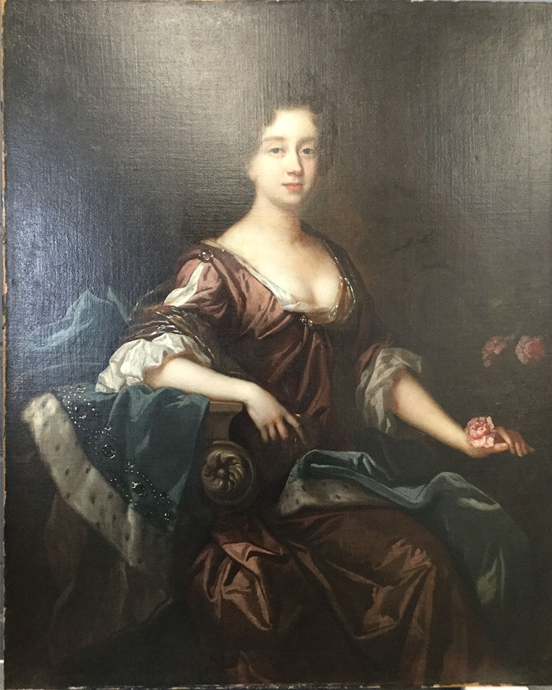 17th century oil painting before painting restoration treatment at Plowden & Smith