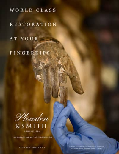 Plowden & Smith art restoration services - Frieze Masters campaign
