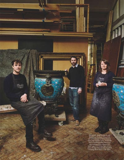 Plowden & Smith painting restoration, furniture restoration and house and garden magazine
