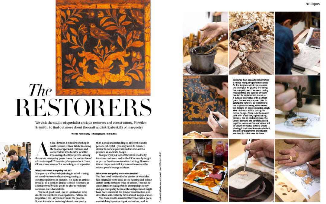Period Living magazine article on Plowden & Smith furniture restoration project