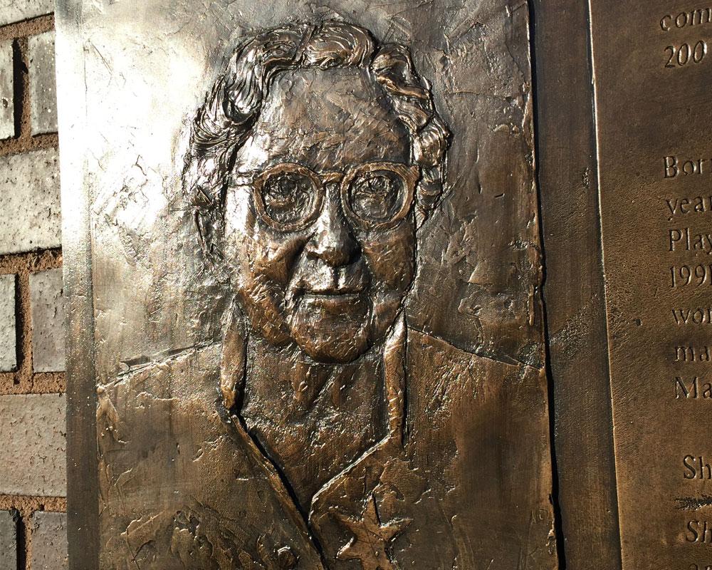 bronze plaque after bronze restoration treatment