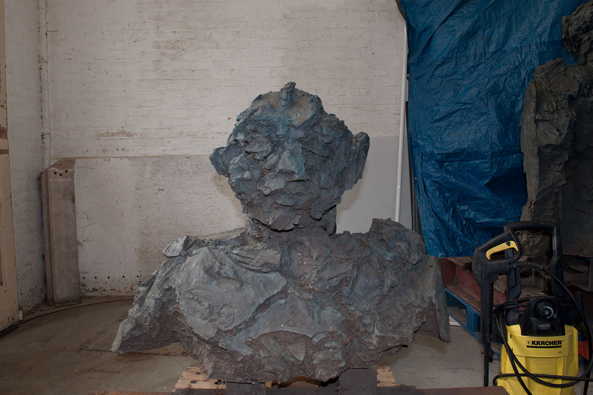 David Breuer Weil bronze sculpture awaiting bronze restoration treatment
