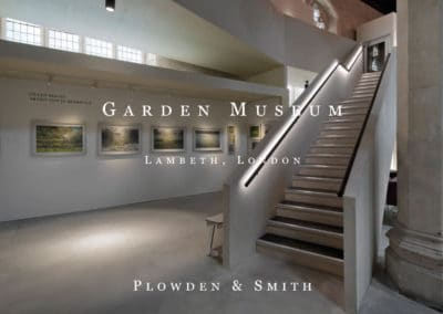 Plowden & Smith mount making services brochure on Garden Museum at Lambeth Palace