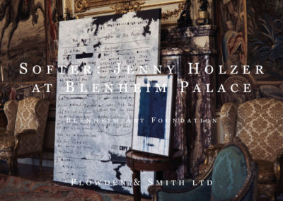 Plowden & Smith mount making services brochure on Jenny Holzer at Blenheim Palace Exhibition