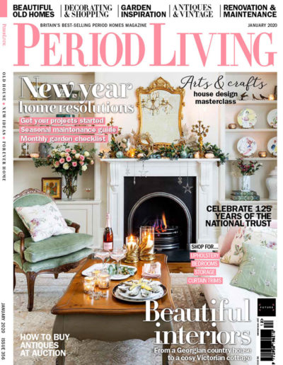 Period Living Magazine Front Cover Jan 2020 issue