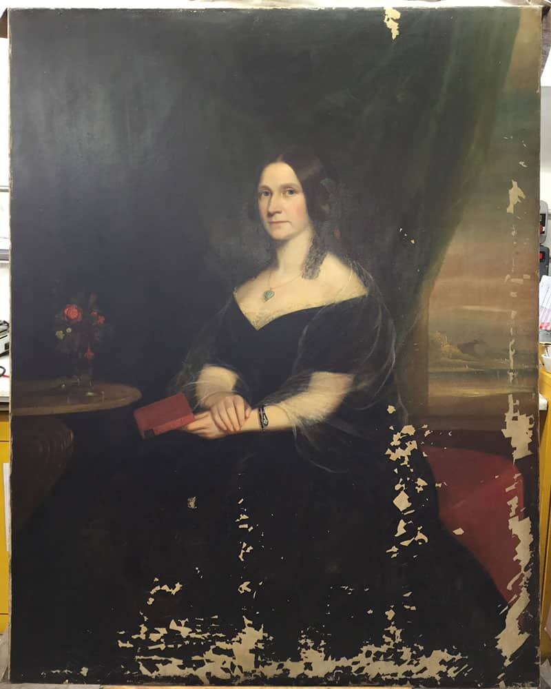 oil painting before painting restoration by Plowden & Smith