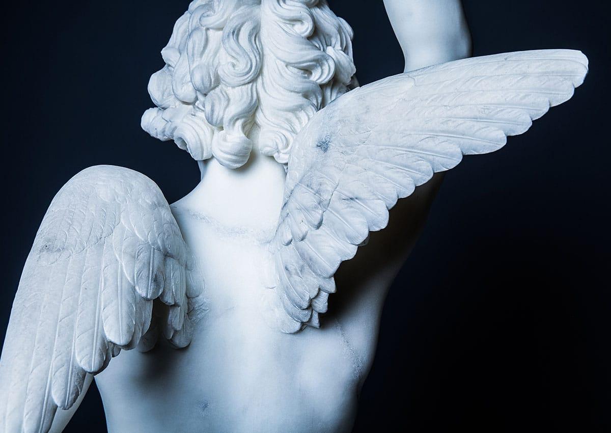marble cherub sculpture after marble restoration treatment